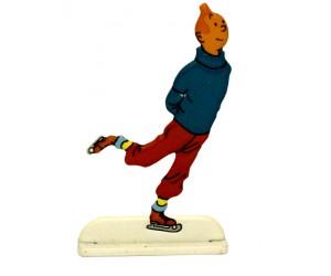 Patineur - Figurine de Tintin en Métal
