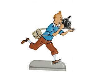 Photographe - Figurine de Tintin en Métal