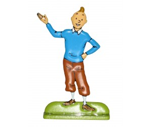 Présentateur - Figurine de Tintin en Métal