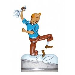 Danse - Figurine de Tintin en Métal