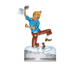 Le Temple du Soleil Figurine de Tintin en Métal