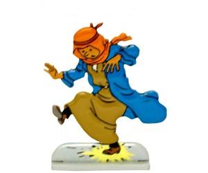 Tintin au Pays de L'Or Noir Figurine de Tintin en Métal