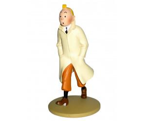 Tintin en Imperméable - Figurine en Résine