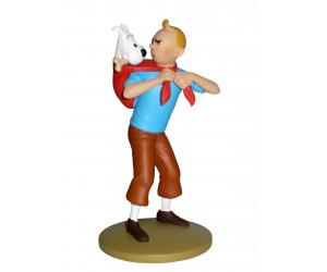 Tintin avec Milou - Figurine en résine