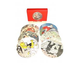 Ensemble 8 Sous-verres Petit Vingtième - Tintin