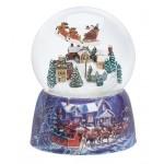 Traîneau du Père Noël et Village Boule à Neige Musicale