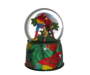 Perroquets - Boule à Neige Musicale