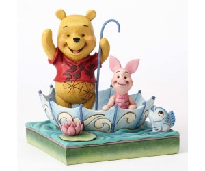 Winnie the Pooh et Porcinet en Parapluie - Heartwood Jim Shore Disney Tradition