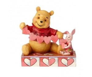 Winnie et Porcinet avec Guirlande de Coeurs