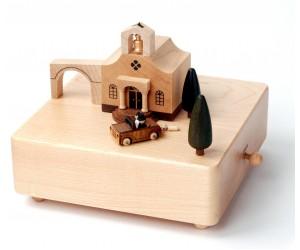 Église et Voiture des Mariés - Boîte à Musique Wooderful Life